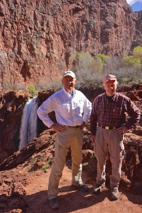 JC and Jim ... top of Mooney Falls