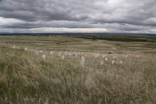 The vast open land and burial ground