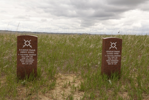 Native American burial markers as well.